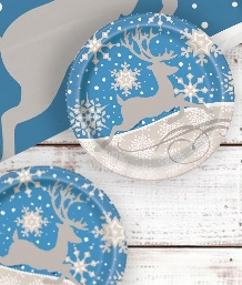 Silver Snowflakes Christmas Party Supplies | Balloon | Decoration | Pack
