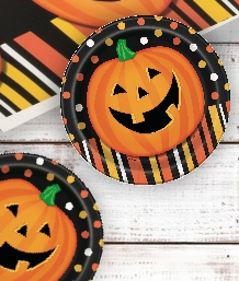 Smiling Pumpkin Halloween Party Supplies & Packs | Party Save Smile