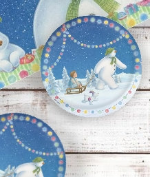 Snowman & Snowdog Christmas Party Supplies | Party Save Smile