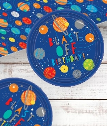 Space Rocket Blast Off Party Supplies | Balloons | Decorations | Packs