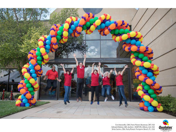 Spiral Double Layer Outdoor Balloon Arch
