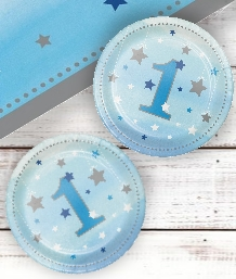 Twinkle Little Star Blue 1st Birthday Party Supplies | Decorations | Packs