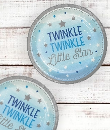 Twinkle Little Star Blue Christening Party Supplies | Balloons | Decorations | Pack