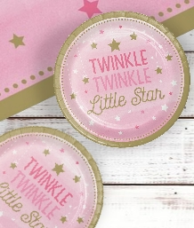 Twinkle Little Star Pink Baby Shower Supplies | Balloons | Decorations | Packs