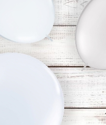 White Coloured Latex and Foil Balloon | Order Today