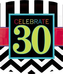 Chevron 30th Birthday Party Supplies | Balloon | Decoration | Pack