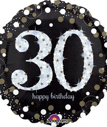 Gold Sparkle 30th Birthday Party Supplies | Balloon | Decoration | Pack