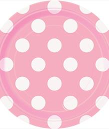 Baby Pink Polka Dot Party Supplies & Packs | Party Save Smile
