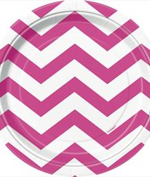 Hot Pink Chevron Party Supplies & Packs | Party Save Smile