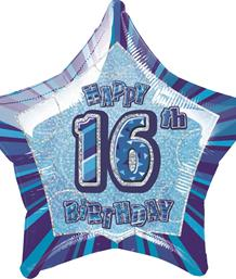 Blue Glitz 16th Birthday Party Supplies | Balloon | Decoration | Pack