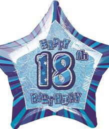 Blue Glitz 18th Birthday Party Supplies | Balloon | Decoration | Pack
