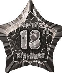Black Glitz 18th Birthday Party Supplies | Balloon | Decoration | Pack