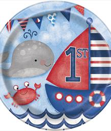 Nautical Boys 1st Birthday Party Supplies | Decorations | Packs
