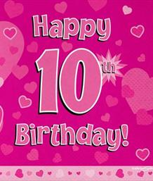 Pink Heart 10th Birthday Party Supplies | Balloon | Decoration | Pack
