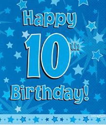 Blue Star 10th Birthday Party Supplies | Balloon | Decoration | Pack