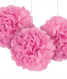 Pom Poms and Honeycomb Decorations - Party Save Smile