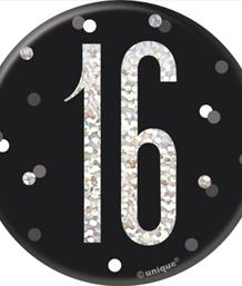 Black Glitz 16th Birthday Party Supplies | Balloon | Decoration | Pack