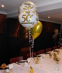 Golden Wedding Anniversary Celebrations, Yew Lodge Hotel, Kegworth, from Party Save Smile. Specialists in Party Supplies for children's birthdays, age milestones and more