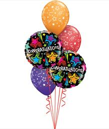 Congratulations and Well Done Balloon Bouquets