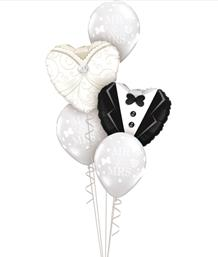 Ready Inflated Wedding Balloon Bouquets | Party Save Smile
