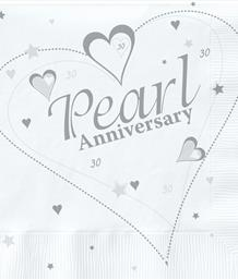 Pearl 30th Wedding Anniversary Party Supplies | Balloons | Decorations