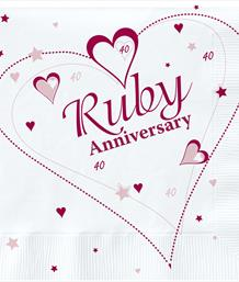 Ruby 40th Wedding Anniversary Party Supplies | Balloons | Decorations