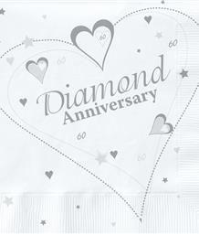 Diamond 60th Wedding Anniversary Party Supplies | Balloons | Decorations