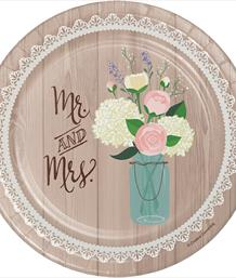 Rustic Wedding Themed Tableware | Decorations | Balloons - Party Save Smile