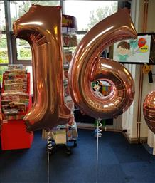 Rose Gold 16th Birthday Party Balloons