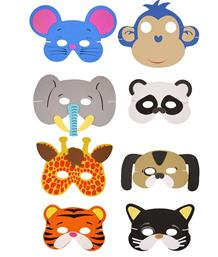 Animal Face Masks | Themed | Party Save Smile