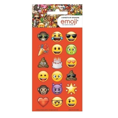 Emoji Icon Party Bag Favour Sticker Sheets