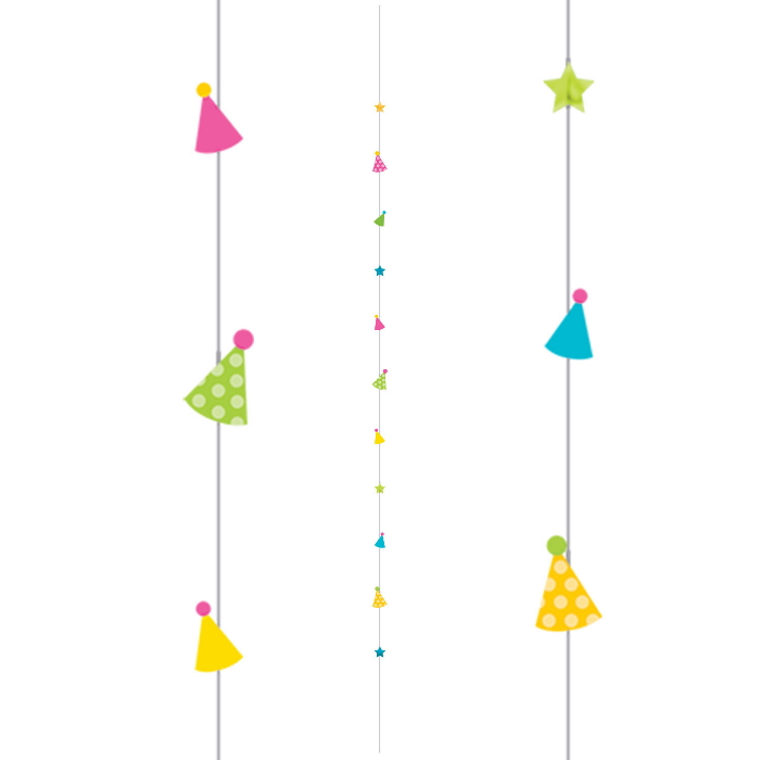 Party Hats Balloon String Party Decoration