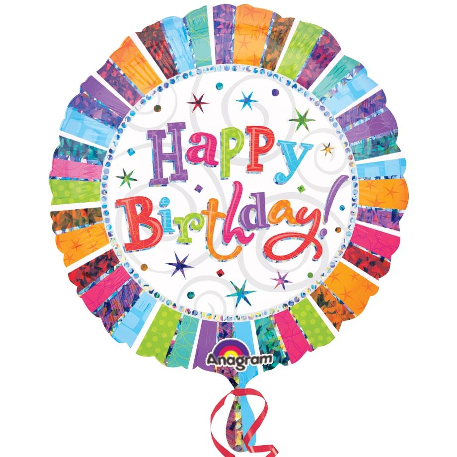 "Radiant Happy Birthday 18"" Foil 