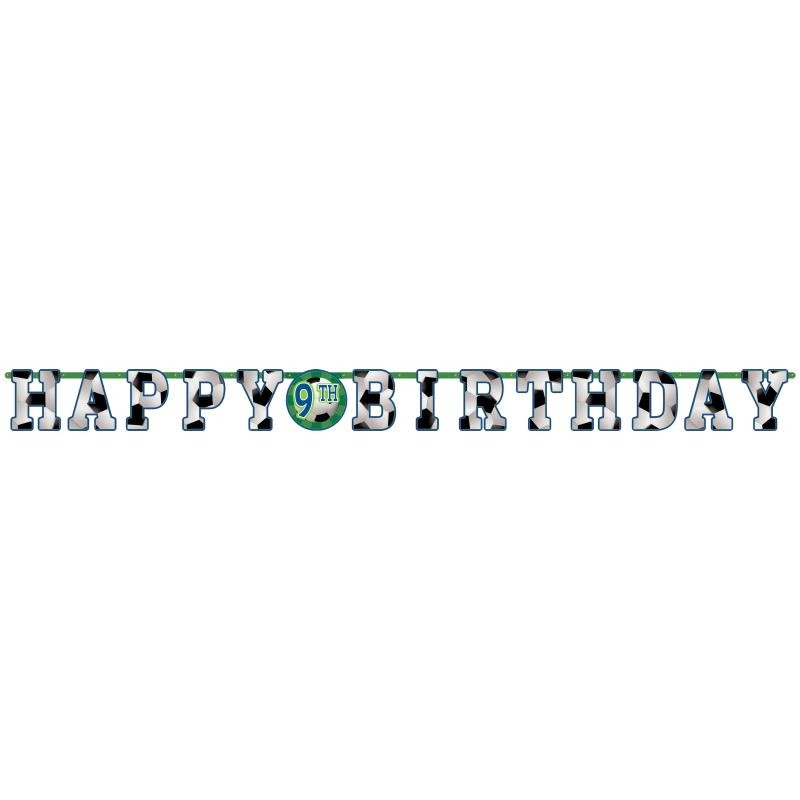 Championship Soccer | Football Add Age Happy Birthday Banner | Decoration