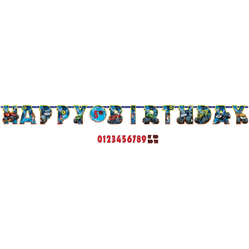 Blaze & the Monster Machines Add Age Happy Birthday Party Banner