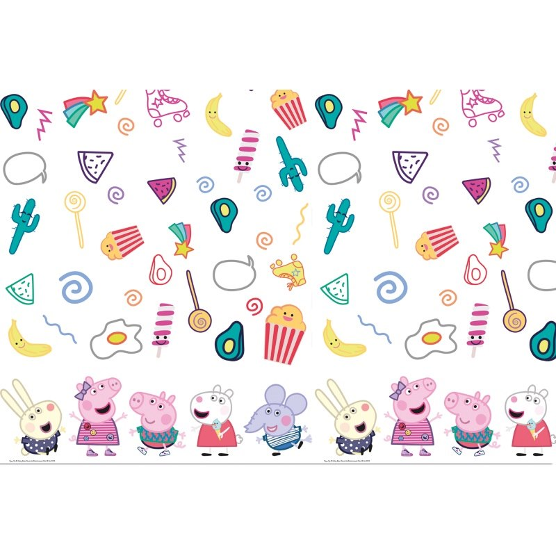 Peppa Pig Treats Party Tablecover | Tablecloth 120cm x 180cm