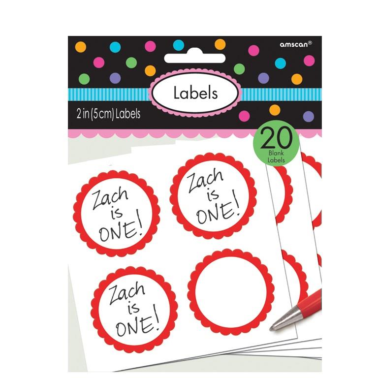 9cff3f845f32d Red Scalloped Party Favour Sticker Labels - Buy Online