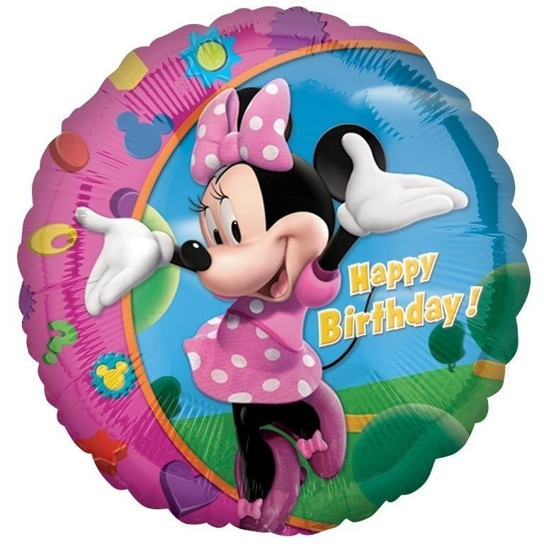 Minnie Mouse Happy Birthday Foil | Helium Balloon