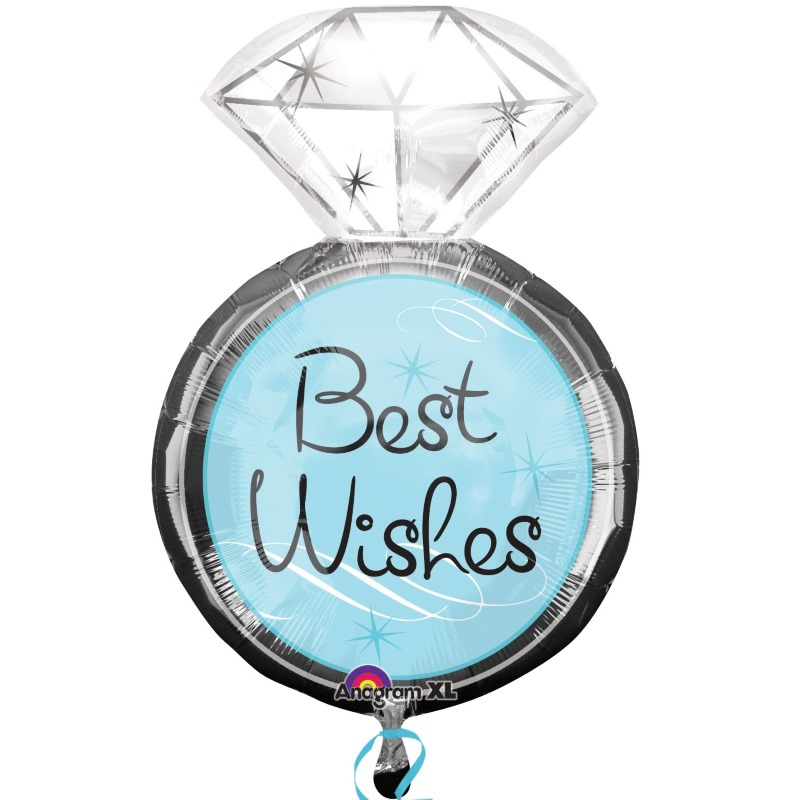 Best Wishes Wedding Ring Shaped Foil | Helium Balloon