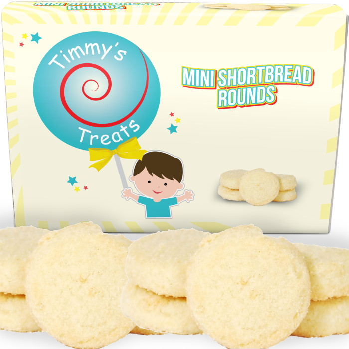 Timmy's Treats Mini Shortbread Biscuit Rounds Gift Box 150 grams