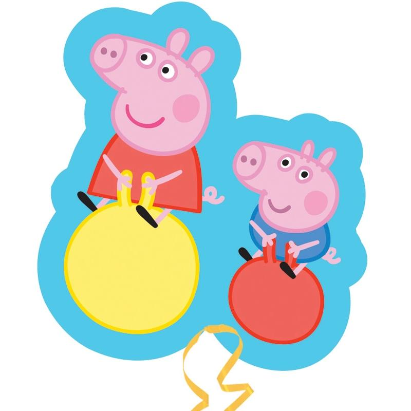 Peppa Pig and George Shaped Foil | Helium Balloon