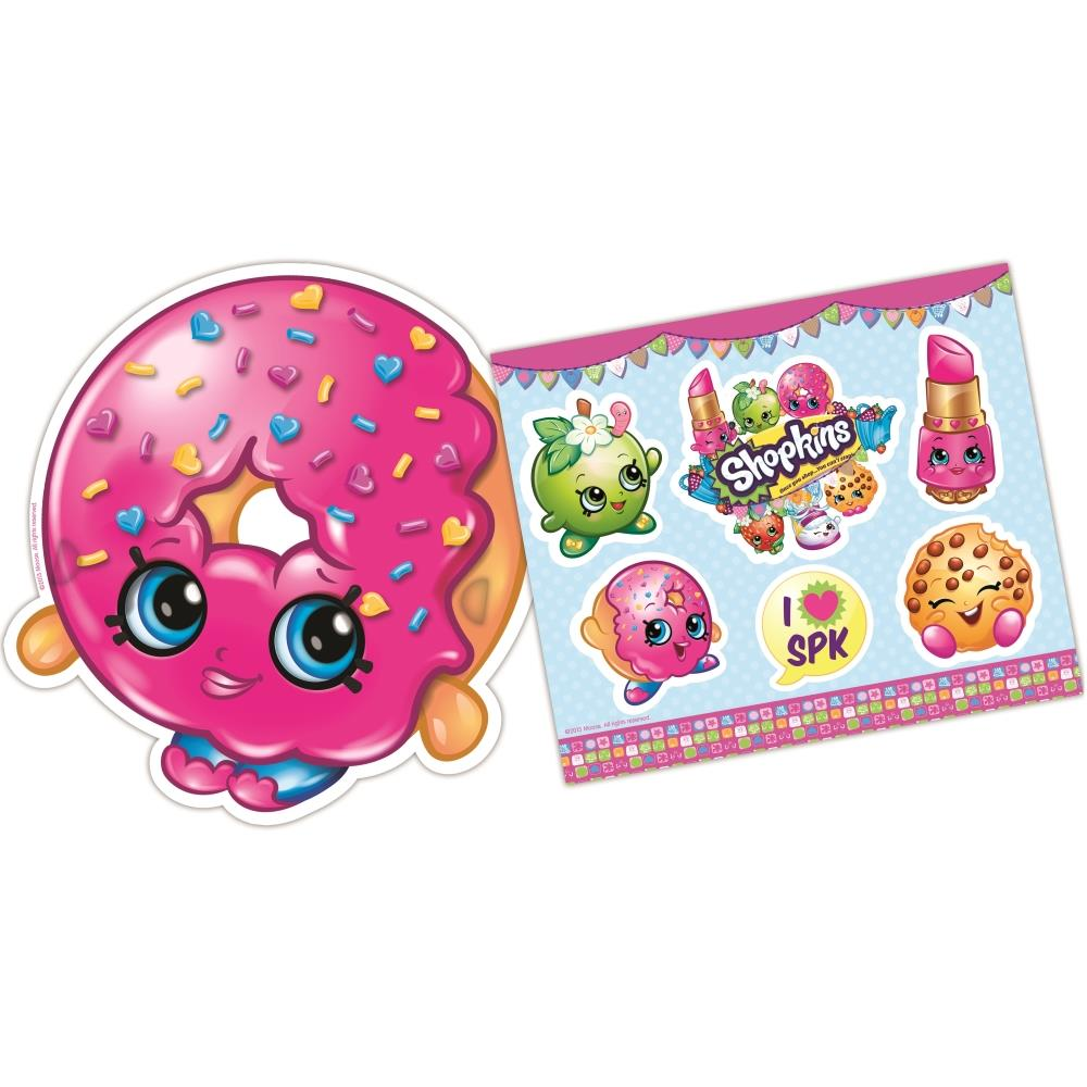 Shopkins Party Bag Favour Masks and Sticker Sheets