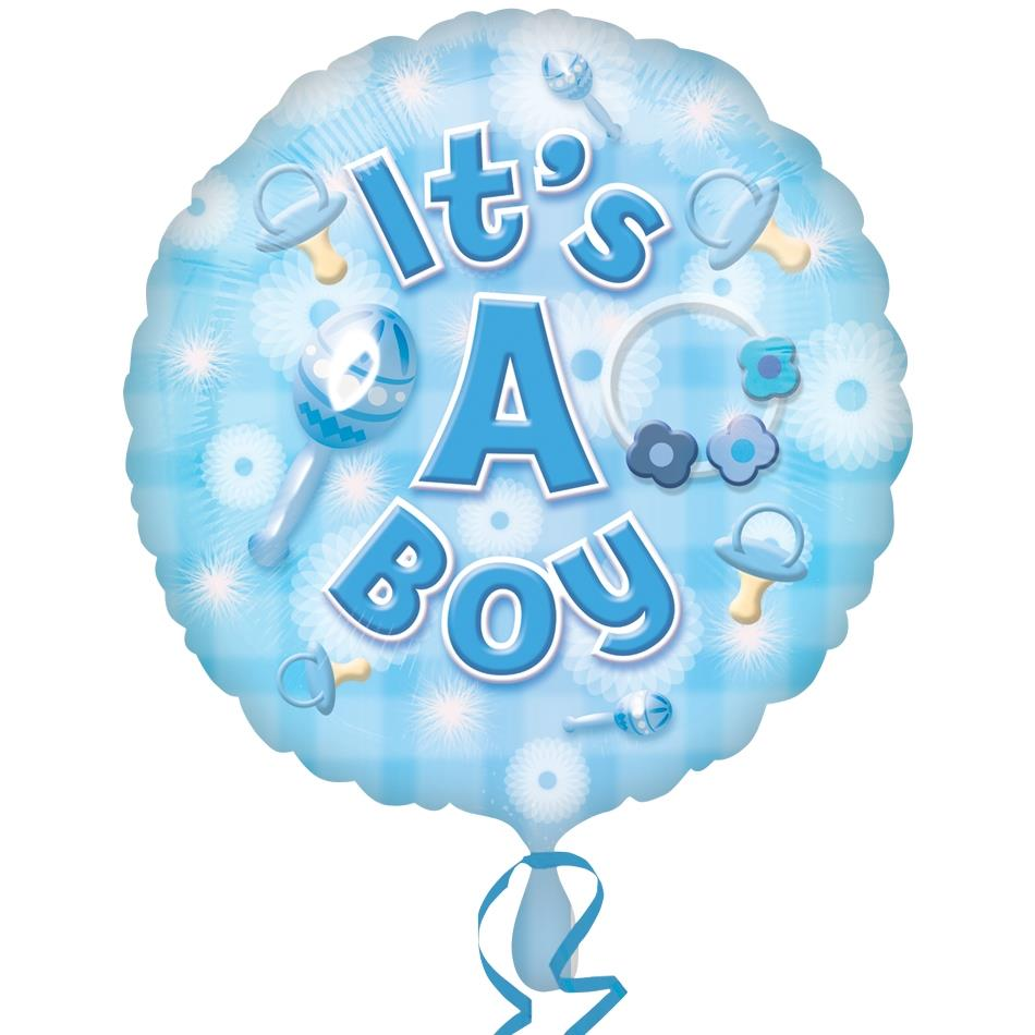 "It's a Baby Boy 18"" Foil 
