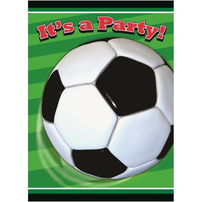 3D Soccer | Football Party Invitations | Invites
