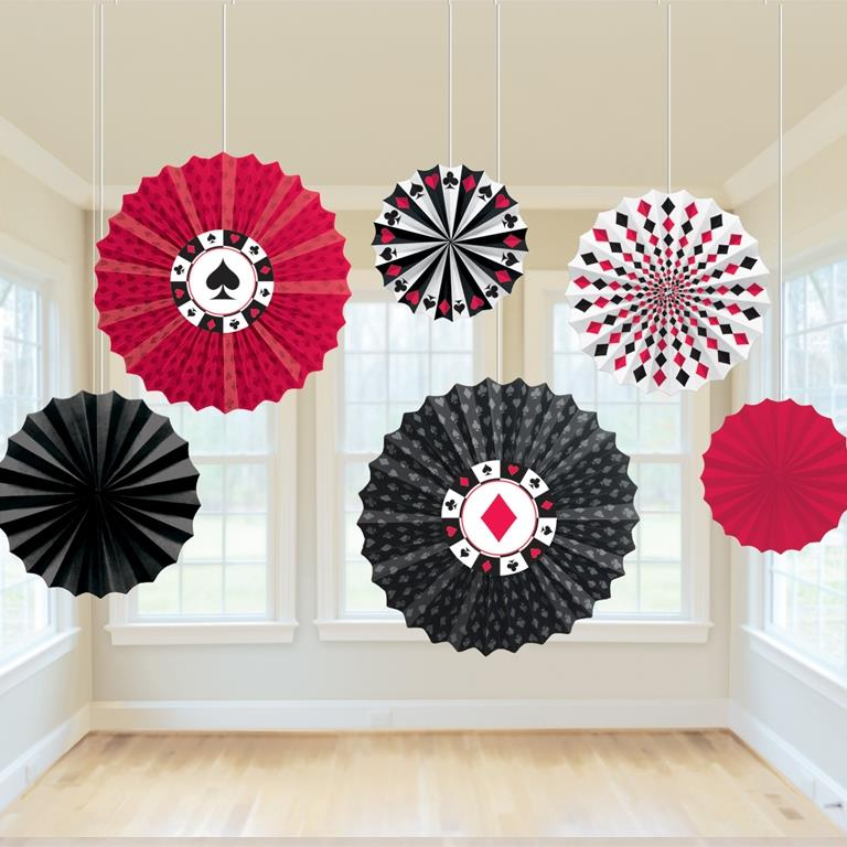 Casino | Roulette Party Hanging Fan Decorations