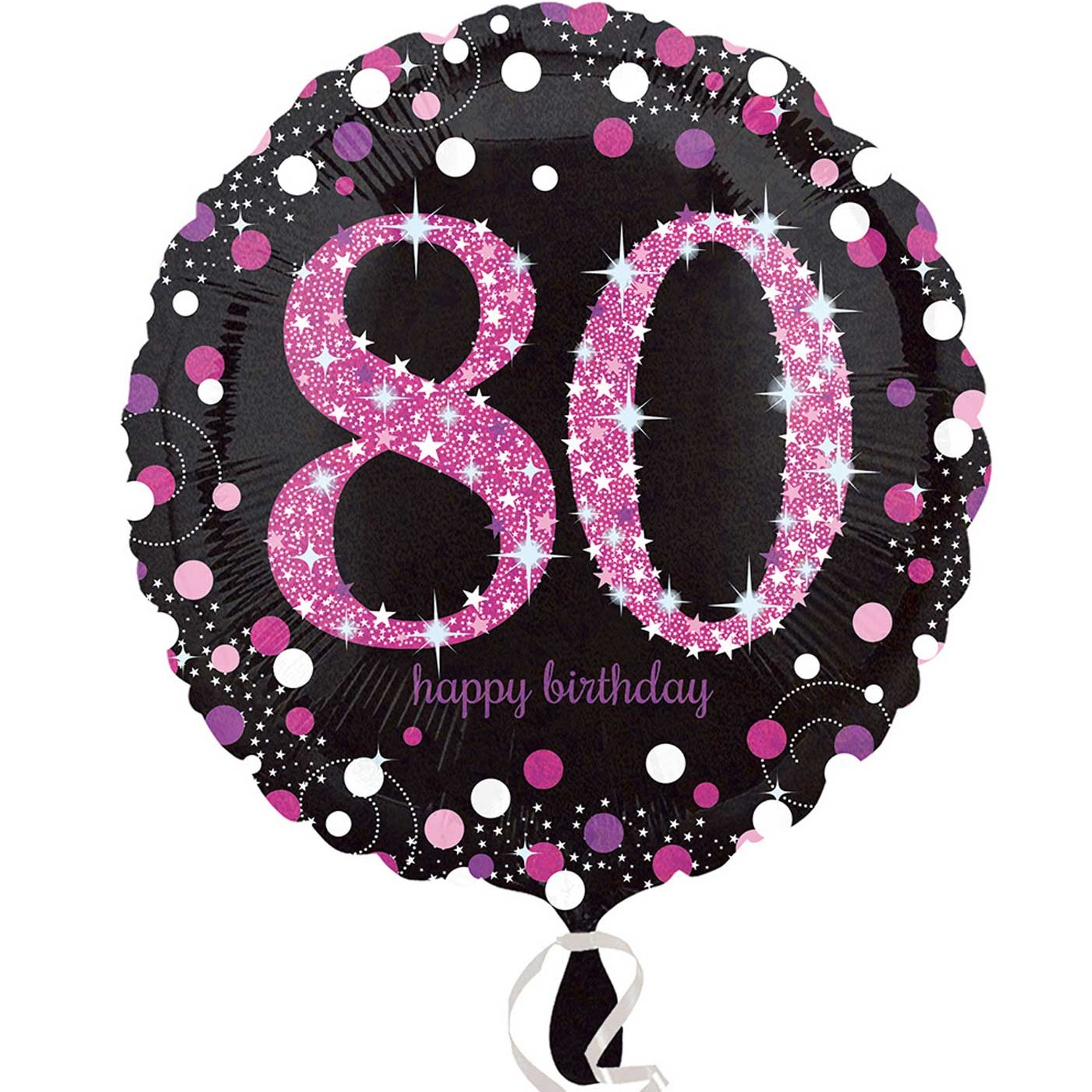 Pink Sparkle 80th Birthday 18 Foil