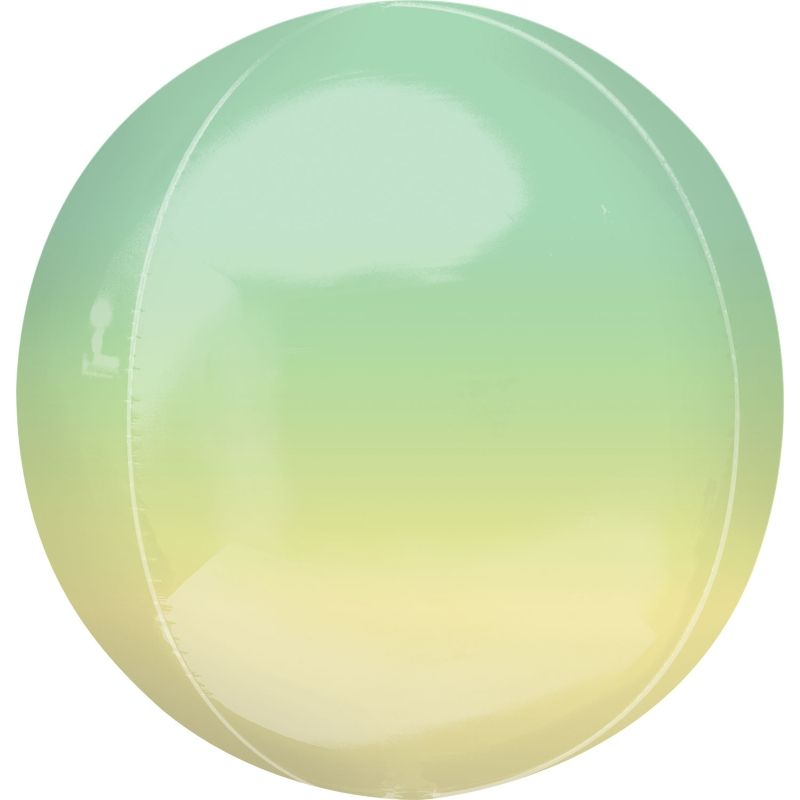 "Yellow and Green Ombre 15"" Sphere 