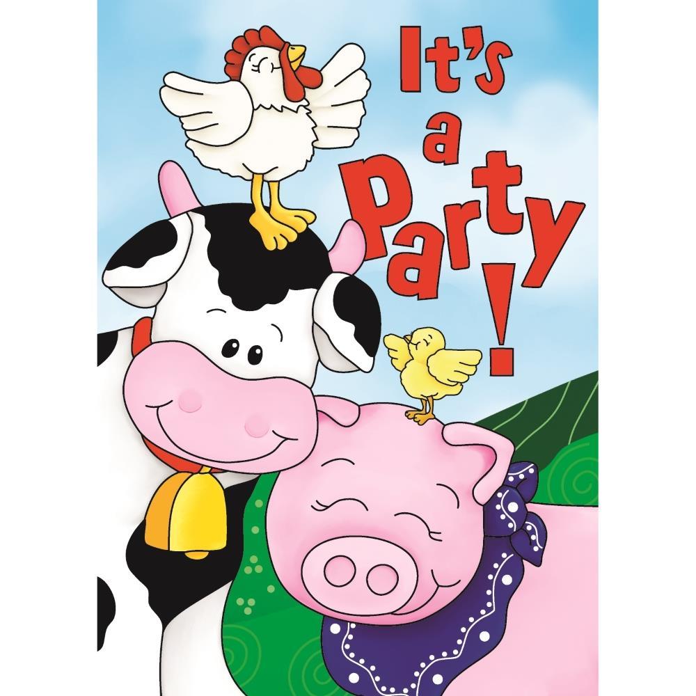 Farm Animals Party Invitations | Invites