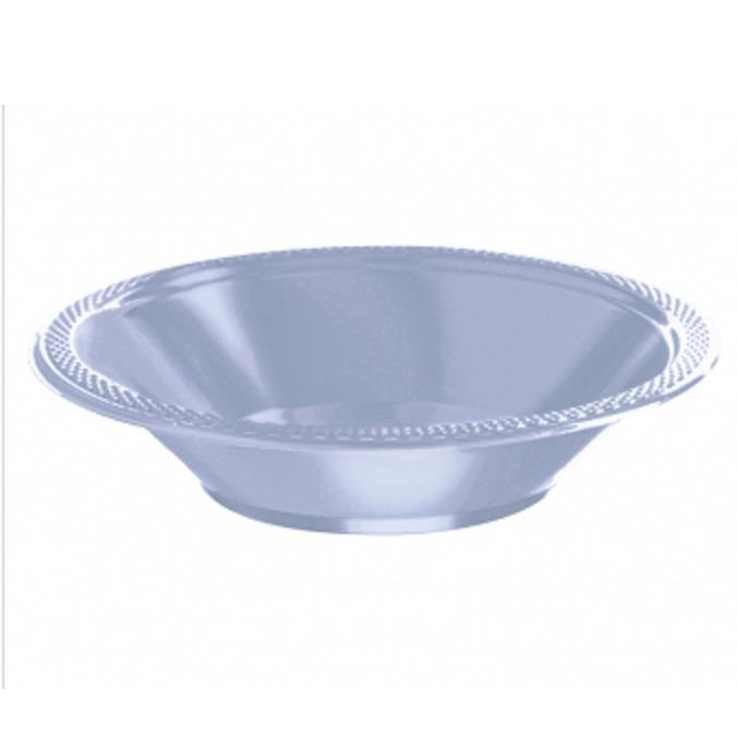 Baby Blue Plastic 18cm Party | Dessert Bowls
