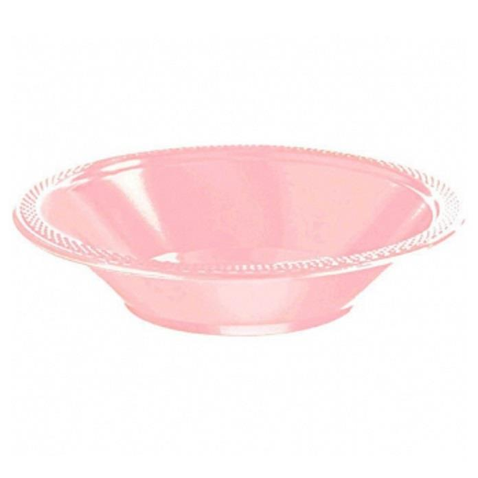 Baby Pink Plastic 18cm Party | Dessert Bowls